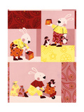 Bunny Plays with Penguins Prints