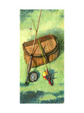 Fishing Basket and Rods Prints