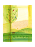 Abstract Apple Tree Posters