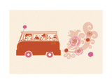 Van with Flowers from Tailpipe Print