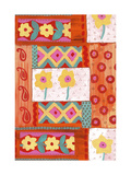 Daffodil Paisley Floral Pattern Prints