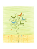 Tree with Birds and Butterflies Posters