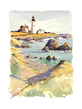Rocky Coastline and Lighthouse Prints
