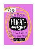 Height and Weight Rule Prints