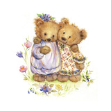 Mary's Bears Hugging Prints