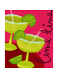 Margaritas with Lime Premium Giclee Print