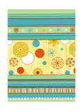Stripe and Flower Pattern Posters