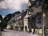 Row of Houses Including One Where Shakespeare's Daughter Lived Photographic Print by Clifton R. Adams
