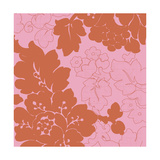 Red and Pink Floral Pattern Posters
