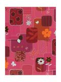 Pink Floral Pattern Prints