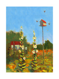 Birdhouse and Flowers Posters