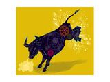 Mechanical Bucking Bull Premium Giclee Print