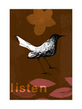 Listen Bird Posters