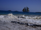 Sailing Ship Off of the Coast of Puerto Rico Photographic Print by Ed George