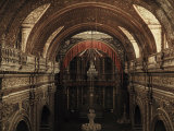 Interior of La Compania Church in Quito Photographic Print by Jacob Gayer