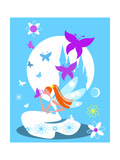 Fairy Princess with Castle Posters