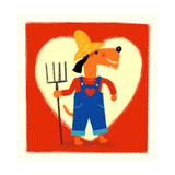 Farmer Dog with Pitchfork Prints