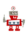 Red Robot with Smile Posters