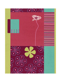 Pink Poppy Patchwork Poster