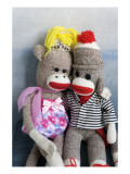 Sock Monkey Couple Posters