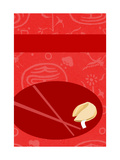 Fortune Cookie with Chopsticks Poster