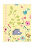 Cute Porcupine and Bird Prints