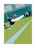 Diving for Football Plakater
