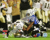 Roman Harper &amp; Chris Reis Onside Kick Recovery Super Bowl XLIV Photo