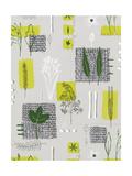 Stitched Straw with Foliage Print