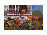 Red Flowers in Garden Poster