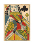 Queen of Clubs Premium Giclee Print