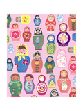Happy Nesting Dolls Print