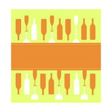 Wine Glasses and Bottles Posters