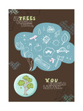 If Trees Could Talk Premium Giclee Print