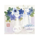 Blue Flowers in Vases Posters