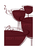 Wine with Hebrew Lettering Posters