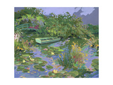 Pond with Boat and Lily Pads Prints