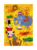 Crazy Circus Characters Prints