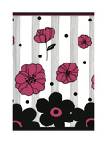 Pink and Black Flowers Prints