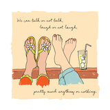 Talk, Laugh, Anything Premium Giclee Print