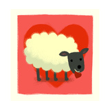 Sheep with Heart Prints