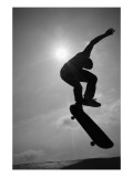 Skateboarder in the Air Photo