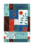 Floral Patchwork Poster