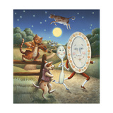Hey Diddle Diddle Mother Goose Premium Giclee Print