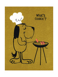 Barbecue Dog at Grill Posters