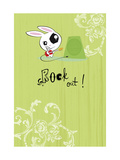 Rock Out Guitar Rabbit Print