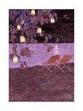 Lantern Filled Tree and Chairs Prints