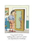 Getting into Woman's Pants Premium Giclee Print