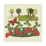 Strawberries and Trees Poster