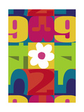 Colorful Numbers and Flower Prints